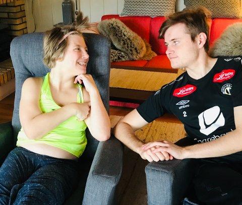 SØSKENKJÆRLEIK: Christina og Andreas Flåten har fått eit heilt anna søskenforhold etter at Andreas vart personleg trenar for ho. No får dei to ikkje vera saman på grunn av koronarestriksjonane.