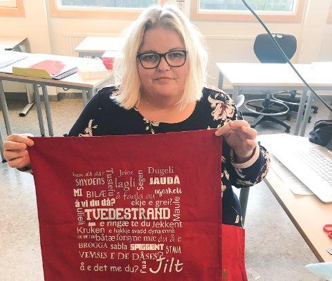 Ann-Cecilie Vestby Haraldsen lager «Tvedestrandsputa».
