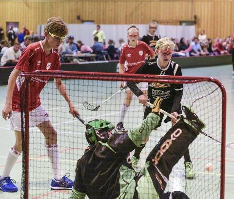 Scoring: Slevik G14 slo Askim lørdag ettermiddag. Oliver Ågren scoret ett av Sleviks mål.