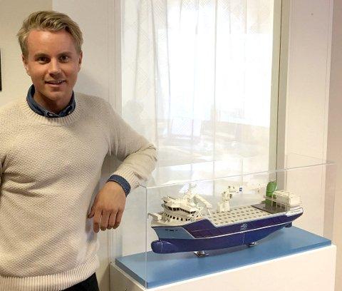 Hadde bestemt seg: Anders Andreassen var fullt bestemt på hvor han ville jobbe. Nå jobber han med å revolusjonere dagens oppdrett med å bygge verdens største skip som skal fungere som et oppdrettsanlegg i åpent hav.