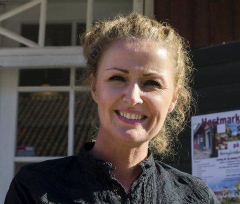 Storfornøyd: Ann-Cathrin de Vibe Vanay er fornøyd med Høstmarkedet som nå har blitt et fast årlig arrangement for høstglade haldensere.