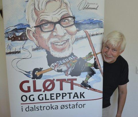 KLAR: Håvard Lillebo er klar til innsats for sitt eget og tegner Oddmund Mikkelsens bokverk med elleville fortellinger fra forfatterens oppvekst på Lillebo ved Drevsjø.