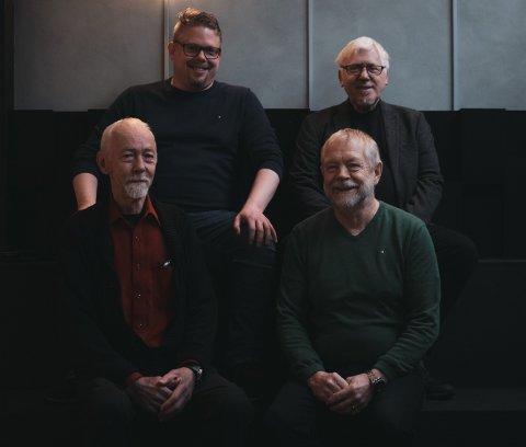 GIR RÅD: Synergia Advisors i Haugesund, med Morten Enoksen (øverst f.v.), Rolf Røed Enoksen, Per Steinar Monsen og Bernt Nagell.