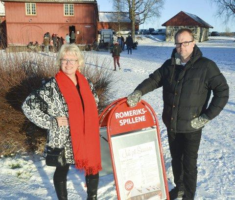 OPPGITTE: Ildsjelene Rita Nyborg og Jørgen Kirsebom er bekymret for Blaker Skanses framtid. FOTO: ROGER ØDEGÅRD
