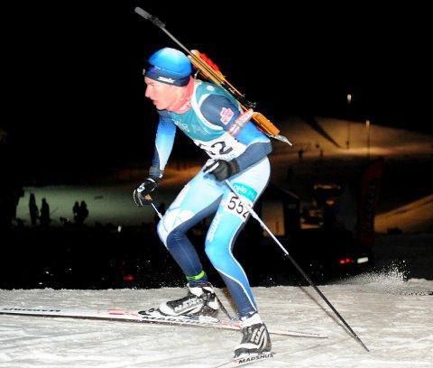 I TOPPEN: Olav Markus Tveit Aakre gjorde en flott figur i junior-NM i skiskyting i helga. Drangedølen har hatt en fin utviklingskurve det siste halvåret.