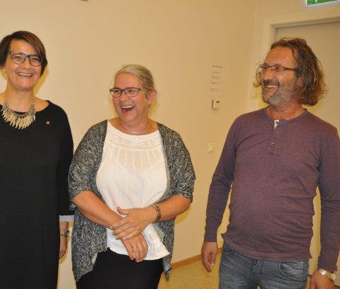 Posisjonen: Bjørn Jensen (SV) stemte sammen med ordfører Lillian Rasmussen og varaordfører Laila Jusnes Kristiansen. – Men jeg kan snu, sier han.