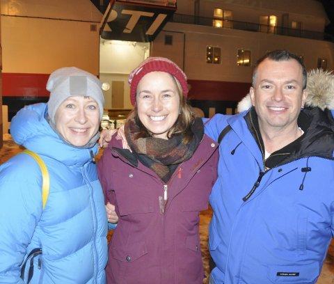 Forskertur: Laura Johanne Olsen (t.v.) fra SALT sammen med forsker Karen Silbee-Dexter og Canadas ambassadør til Norge, Artur Wilczynski.