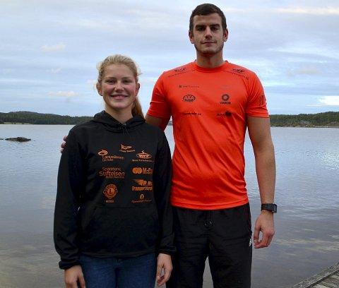 FORNØYDE: Rebekka Wiberg-Bugge og Robin Fjeldstad var godt fornøyd med egne prestasjoner i mesterskapet.