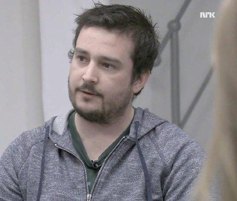 FORTALTE SIN HISTORIE: Ås-mannen Karsten Nordal Hauken fortalte sin historie på NRK etter å ha blitt voldtatt av en somalisk statsborger. Han angrer ikke. FOTO: Skjermdump fra NRK