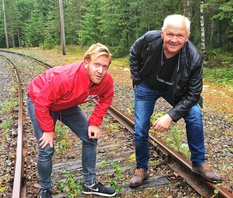 TINNOSBANEN: Ådne Naper og Håvard Bakka fra SV foreslår godsterminal i Gransherad. Foto: Privat