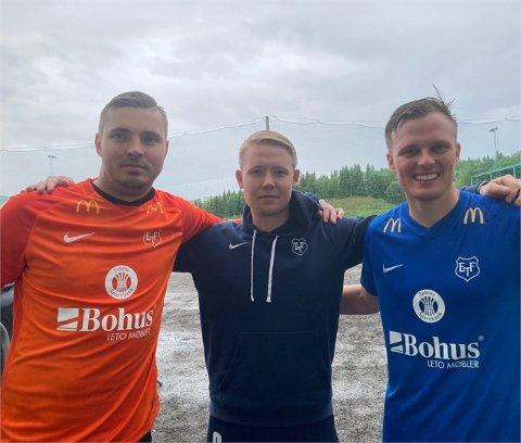 MATCHVINNERE: Keeper Peter Rusina (t.v), Henrik J. Henriksen og Ole Andreas Nesset sikret seier mot Fløya lørdag.