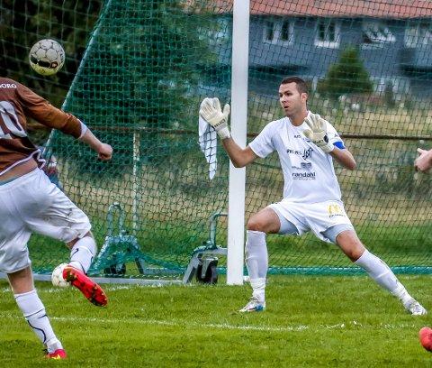 GODE: Lars Sigmund Brudalen hadde mange gode sesonger både som keeper og utespiller i Borgar.