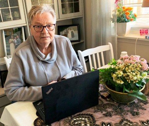 MÅ SKJE FORNUFTIG: - Jeg har ikke noe mot datamaskiner, men digitalisering må skje i fornuftige former, påpeker leder av eldrerådet, Gerd Andersen.