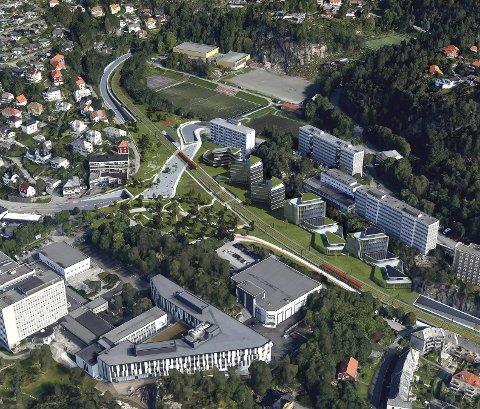 Det blir plass til både bybane, sykkelsti og lokalvei på dagens firefelts vei mellom Bergen og Åsane, om den flyttes i tunnel. Nå har byrådet snudd (igjen) og går inn for en variant av denne løsningen.