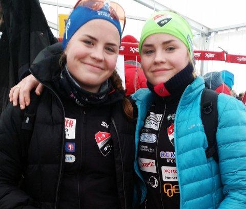 Skilte bare seks sekunder mellom søstrene Maja og Ingrid Sørensen fra Stokmarknes i 17-årsklassen i norgescuprenn på Voss. (Arkivfoto Einar Roger Pettersen)