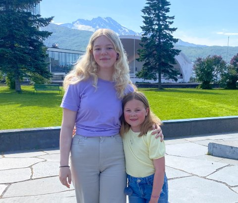 VIL HA SKATEPARK: Inger Henriette Sortebech (13) og Helle Sandbakk (9) synes det er for lite å finne på i Narvik.