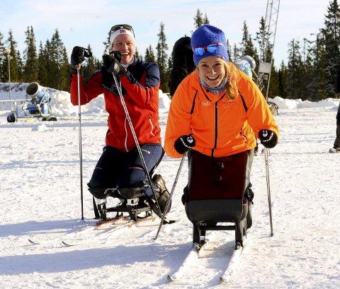 STERK DUO: Martin Sletten og Birgit Skarstein er en sterk duo som begge satser det meste på at Birgit skal ta medalje i paralympics. Begge foto: Hans Bjørner Doseth