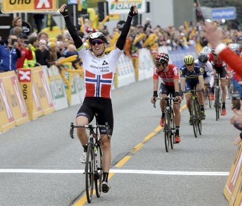 Edvald da han seiret i Tour of Norway tidligere i vår.