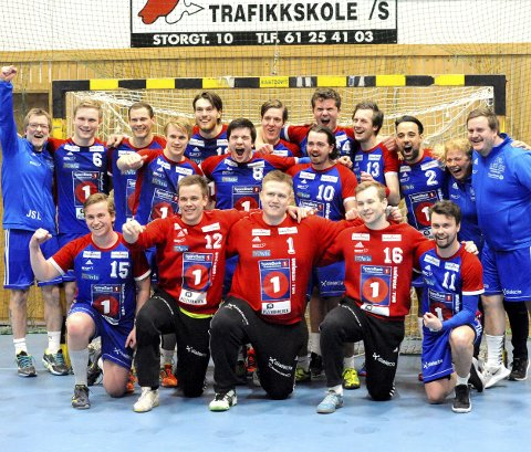 LFH-gjengen jublet vilt etter seieren mot Sverresborg i den siste seriekampen og dermed kvalifiseringsspill for 1. divisjon. Begge foto: Hans Bjørner Doseth