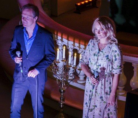 Sang sammen: Aasmund Kaldestad og Christina Brynildsen sang sammen i Immanuelskirken lørdag. Alle foto: Sara Helen Engmo