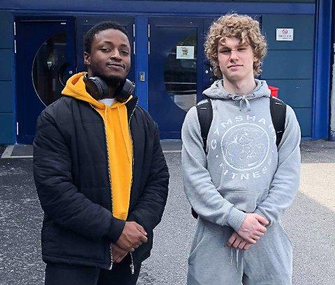 STERKE LØFTERE: Germe Wimpaye og Daniel Nilsen imponerte under Regionmesterskapet i styrkeløft.