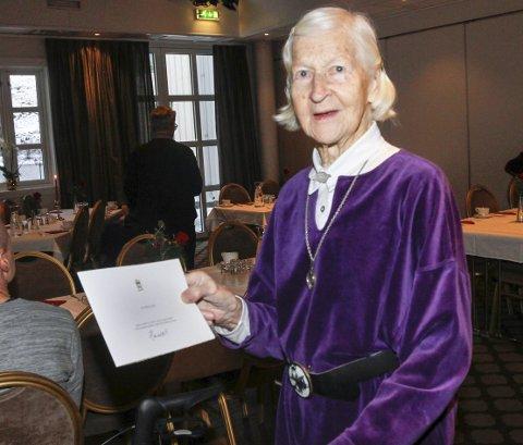 Bodil Eide er en av de tre i Vefsn kommune som er over 100 år. Hun fylte 100 år 22. desember 2018.