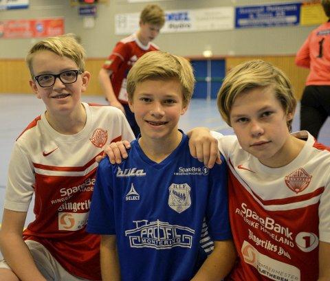 Allsidighet er viktig: Fotball er kanskje kulest, men både Theodor Myhre Syversen, Jørgen Sørgård og Edvard Erlandsen mener det er viktig å drive med flere idretter eller aktiviteter.