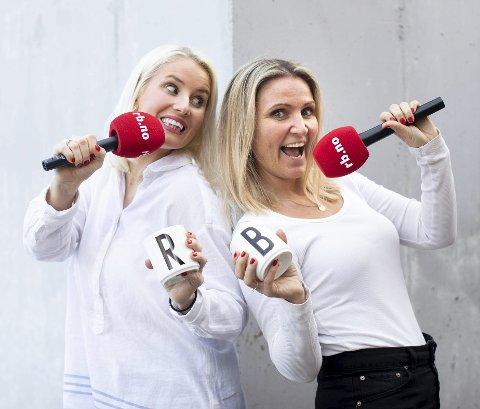 Går Live: Thea Bråten Christensen og Britt Hoffshagen fra podcasten RB Sladder sender live fra Nebbenfestivalen! Foto: Lisbeth Lund Andresen