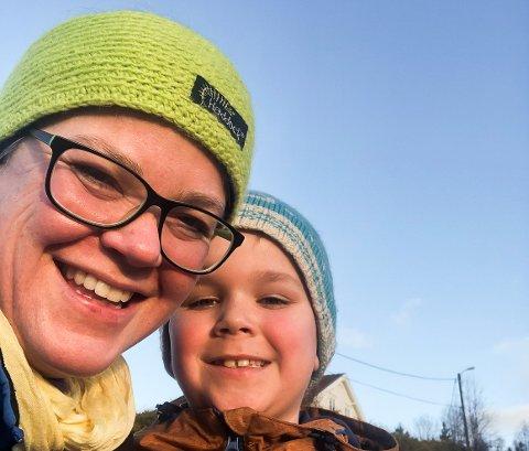 MYE TID SAMMEN: Mamma Hege og sønnen Scott (8) har fått mye tid sammen det siste året.