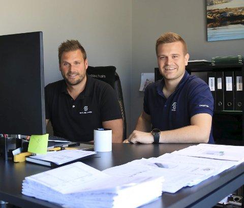 Tar skrittet: Døgnet har ikke nok timer for grunnleggerne av NL Design. Geir Byvold og Simon Aas Skaarup er nå på jakt etter en leder som kan utvikle forretningsideen videre. Foto: MArianne Sten/Arkiv