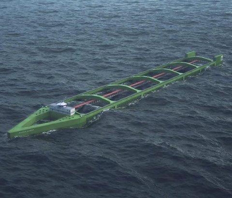 HAVFARM: Eit skipsforma merdanlegg skal testast ut av Nordlaks og har fått 21 utviklingskonsesjonar.