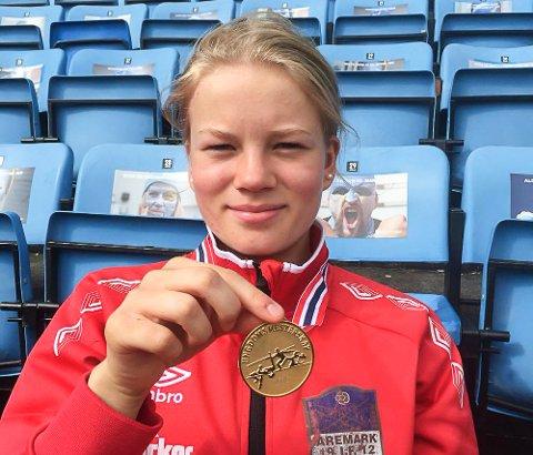 Karoline Jæger fra Aremark IF vant UM-gull i tresteg J15.
