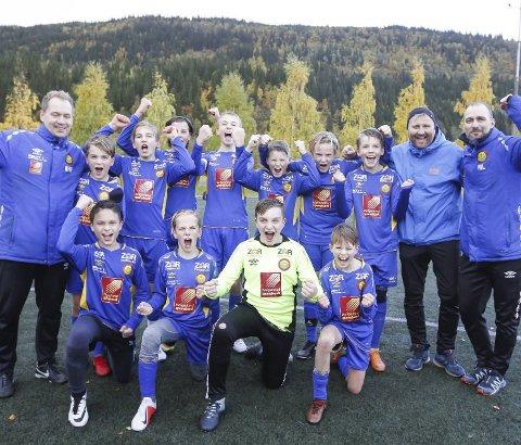 TIL BODØ: Selfors ULs Gutter 13-lag banket Sandnessjøen 5-0 i semifinalen. Lørdag spiller  laget kretsfinale i Bodø. Foto: Per Vikan