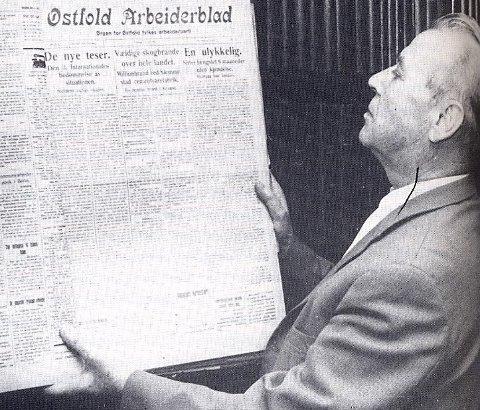 REDAKTØR OG POLITIKER: Nils Hønsvald var redaktør i Sarpsborg Arbeiderblad fra 1929 til 1969 og stortingsrepresentant fra 1945 til 1969.  Han var også aktiv motstandsmann under krigen.foto: Sarpsborg kommune