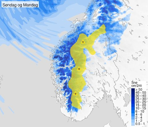 - Kraftig vind og snø kan skape problem, melder Meterologisk institutt.