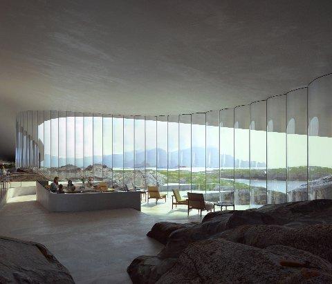 Disse bildene av The Whale går verden rundt. Arkitekt: Dorte Mandrup, Kobenhavn. Illustrasjon: MIR, Bergen.