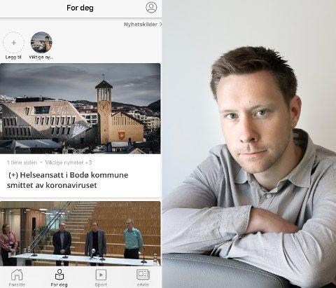 Nyhetsredaktør Markus André Jensen tror leserne vil nyte godt av en oppdatert og bedre an.no-app.