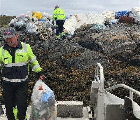Bodø Havn har hentet mange tonn avfall fra veiløse områder i Salten.