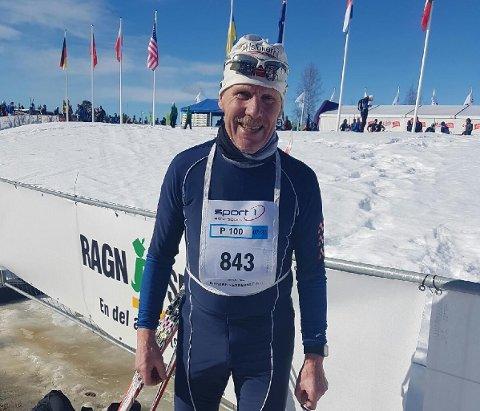 Bjørn Myhra gikk Birkebeinerrennet for 19. gang med en sterk 8. plass i klassen 70-74 år. (Foto: Privat)