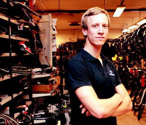 EVENTYRLIG VEKST: Bikeshop AS på Skoppum har vært en stor suksess lenge, men aldri har Håkon Lillands selskap opplevd et så sterkt økonomisk år som i 2020.