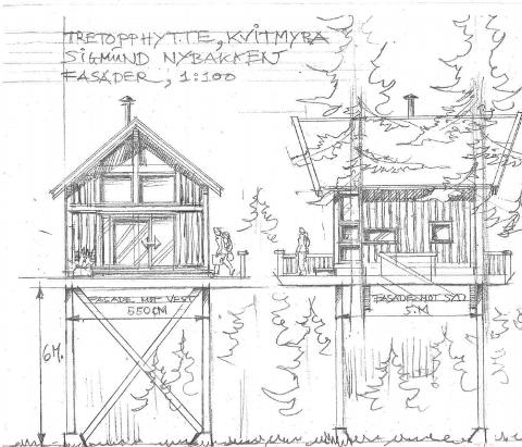 Skissert: Skisser av planene om bygging er sendt til Ringsaker kommune.
