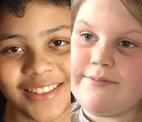 ELEVER: Theodor og Sonnev går i sjette klasse ved Høgås skole.