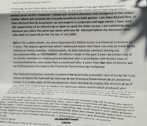 BREVET: Slik ser brevet Bekkelund Hellum fikk i postkassa.
