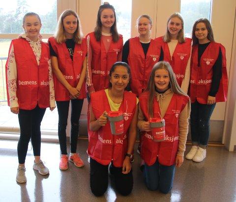 Strupe: Bak fra venstre: Cathrine Jørgensen, Amalie Grønli, Live Hedin, Martine Agnalt, Elin Olsen, Amina Hrnjic Foran fra venstre:Dilana Ugur og Elise Thowsen.