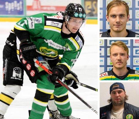 FRISKE ETTER SMITTE: De fire Comet-spillerne Dan Nygård, Herman Benjo Kopperud, Patrick Karlsen-Wessel og Jesper Kolle Nipe er tilbake i full trening - etter å ha vært Covid-syke for en drøy måned siden.