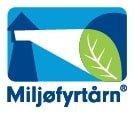 Denne logoen vert brukt for å profilera verksemder som er sertifisert som Miljøfyrtårn.