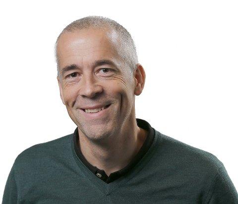 DIGGER HAUGALANDET: Ansvarlig redaktør Einar Tho.