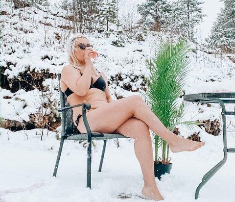Lisa Otnes er så lei av vinteren at hun nå har valgt å overse den.