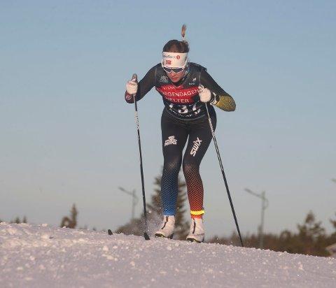 INGEN NORGESCUP: Det blir ingen norgescup i langrenn for Skrims Caroline Embergsrud og de andre juniorene denne vinteren. FOTO: ERIK BORG