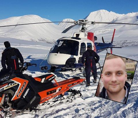 NÆRT: Håkon Erla reagerer på at politiet landet nærme ham og kompisgjengen. Foto: Håkon Haug Erla/Privat.